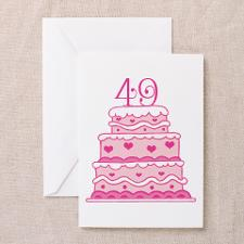 49th anniversary cake greeting card